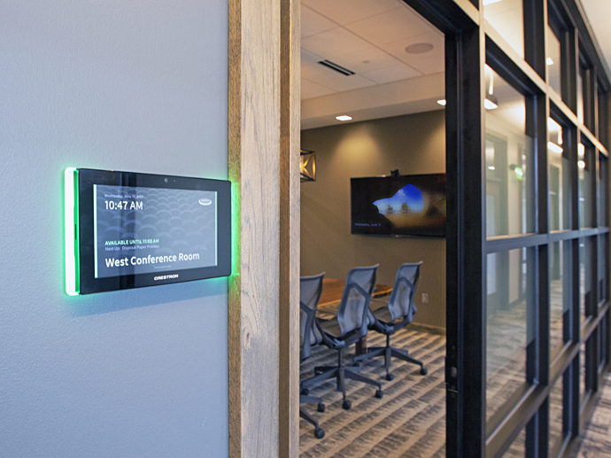 Digital conference room sign